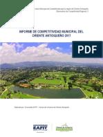 INDICE DE COMPETITIVIDAD DEL ORIENTE ANTIOQUEÑO 2017 - 2018