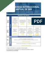 Calendario general congreso Virtual ISEP_Vd