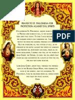 prayer to st filomena for protection against evil spirits