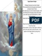 prayer to Mary august queen of angels
