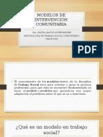MODELOS DE INTERVENCIÓN COMUNITARIA 1