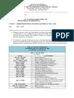 VPAA MEMO No. 09 Acad Calendar