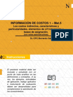 AUTOWA PPT-IDEA MATERIAL 5 - INFORMACION DE COSTOS 1 - Prof.BERNARDO SANCHEZ