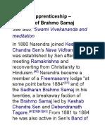 Swami Vivekananda,Spiritual apprenticeship – influence of Brahmo Samaj
