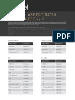 Aspect ratio cheat sheet