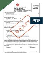 DRAFT FORM INFORMED CONSENT