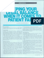 Keeping your legal balance when it comes to Patient Falls