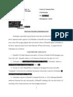 Motion for Reconsideration Scribd Wells Fargo Kennerty
