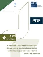 El impacto del COVID-19 en la economía de El Salvador_marzo 2020