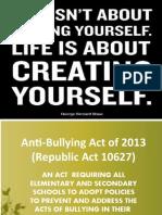 Anti-Bullying Act of 2013