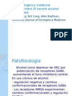 The emergency medicine management of severe alcohol withdrawal