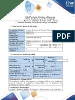 Guía de actividades y rúbrica de evaluación - Fase 1 - Reconocimiento general del curso y presaberes