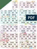 Tambola Tickets Floral