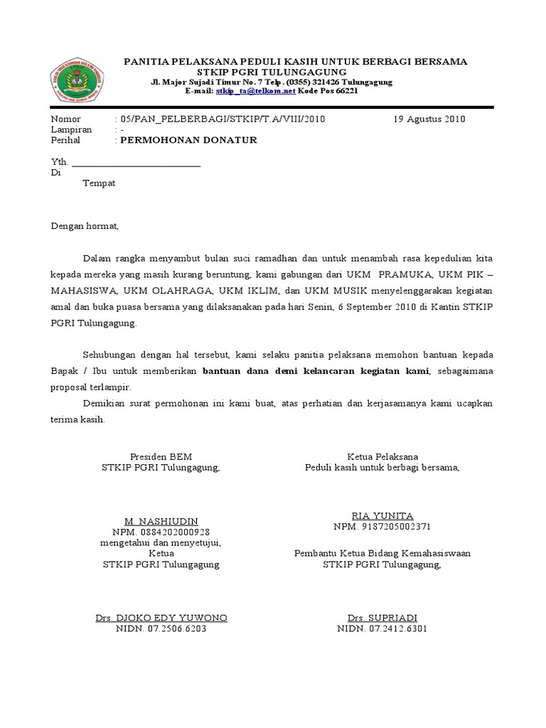 Format Surat Permohonan Dana Altin Northeastfitness Co
