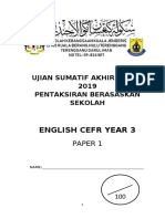 Assessment Test Year 3, 2019
