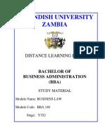 CUZL226 Business Law Module