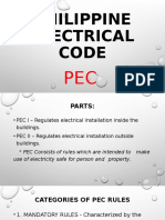 APPLICABLE PEC STANDARD FOR EIM NC II