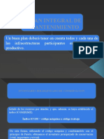 Plan Integral de Mantenimiento