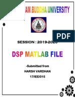 DSP FILE BY HARSH VARDHAN