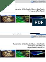 Nube Minera Planificacion Open Pit   03 Conceptos de Planificacion Minera.pptx