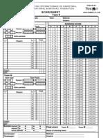 Score Sheet TKDC