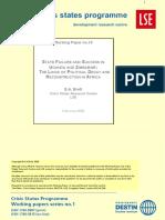 Development of Economic Thought and Economic History of Zimbabwe