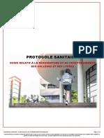 Covid19 Protocole Sanitaire Pour La r Ouverture Des Coll Ges Et Lyc Es 67185