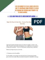 Bajar de Peso en Dos Dias - Secretos Para Bajar de Peso en Dos Dias