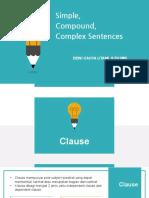 Simple, Compound, Complex, and Compound-Complex Sentences