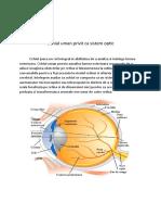 Ochiul uman privit ca sistem optic