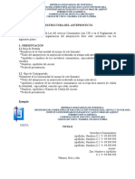 ESTRUCTURA DEL ANTEPROYECTO 2019