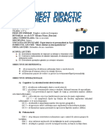 0 1 Proiect Didactic Istorie