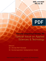 Special Issue on Applied Sciences & Technology