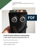 Covid-19 quick distance mesurement - Arduino Project Hub