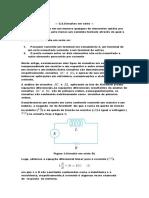 equações diferenciais e circuitos de 1a ordem