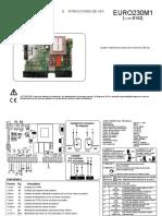 Manual Placa de Control Euro 230 m1 Español