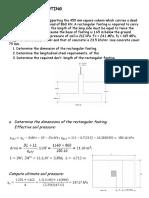 DESIGN OF RECTANGULAR FOOTING