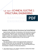 TECHNICAL ELECTIVE ON STRUCTURAL ANALYSIS BY PORTAL METHOD