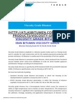 Viscosity Grade Bitumen, Bitumen VG 20, VG 30, VG 40 Specification