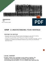 CONSERVATION PLANNING STEPS