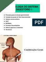 FISIOLOGIA DO APARELHO DIGESTÓRIO 1 2018