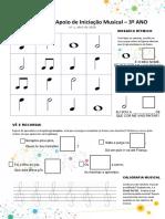 Ficha de Iniciação Musical - 3º Ano