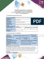 Guía de actividades y rúbrica de evaluación - Tarea 1 - Contextualización