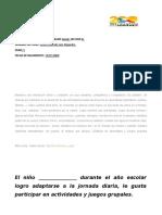 ACTUACIÓN DEL ESTUDIANTE