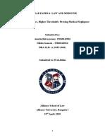 Law and Medicine Seminar Paper- Nikita Ganesh, Anusha Shivaswamy (BBA LLB- A)