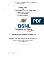 BSNL 4F Drop Tender Spec.