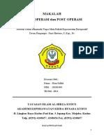 Makalah Intra-Post Operasi - Dian Safitri (20181400)