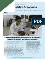 Boletim Argonauta - Edição n 1 - Abril de 2020