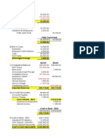 Seatwork 1 - Cash and Cash Equivalents and Bank Reconciliation - Answers
