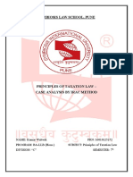 Principles of Taxation Law- Ist Internal Assignment